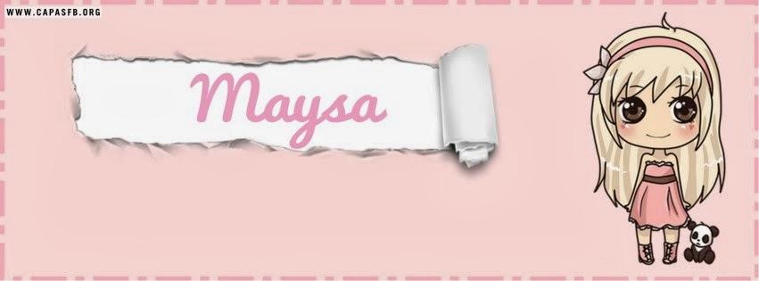 Capas para Facebook Maysa