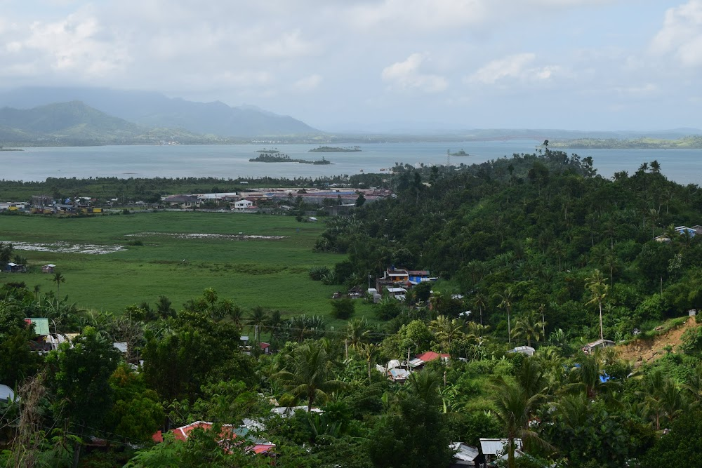 in the very far distance here, you can see the bridge that links Samar and Leyte Islands...
