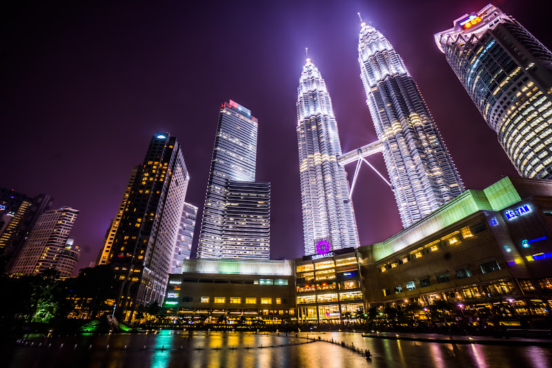 Twin Towers night view KLCC park4