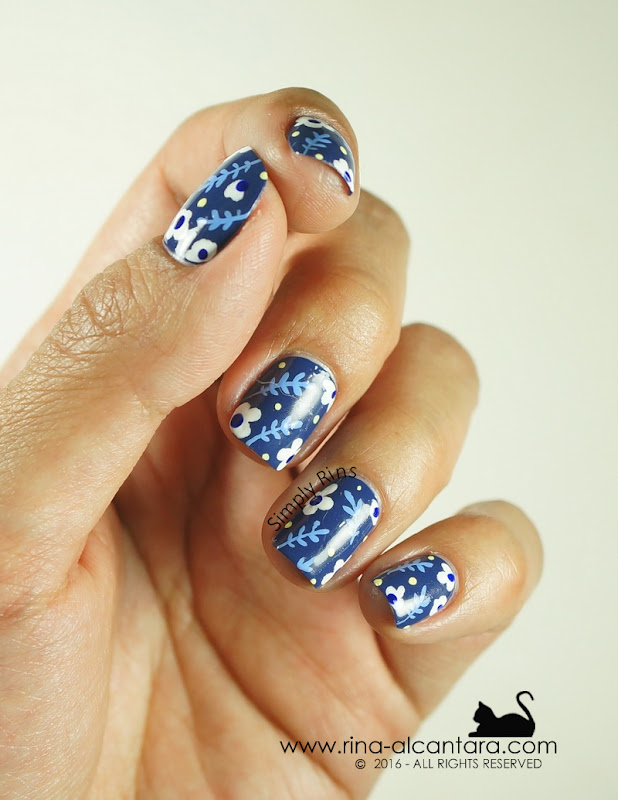 Nail Art: Don't Be Blue