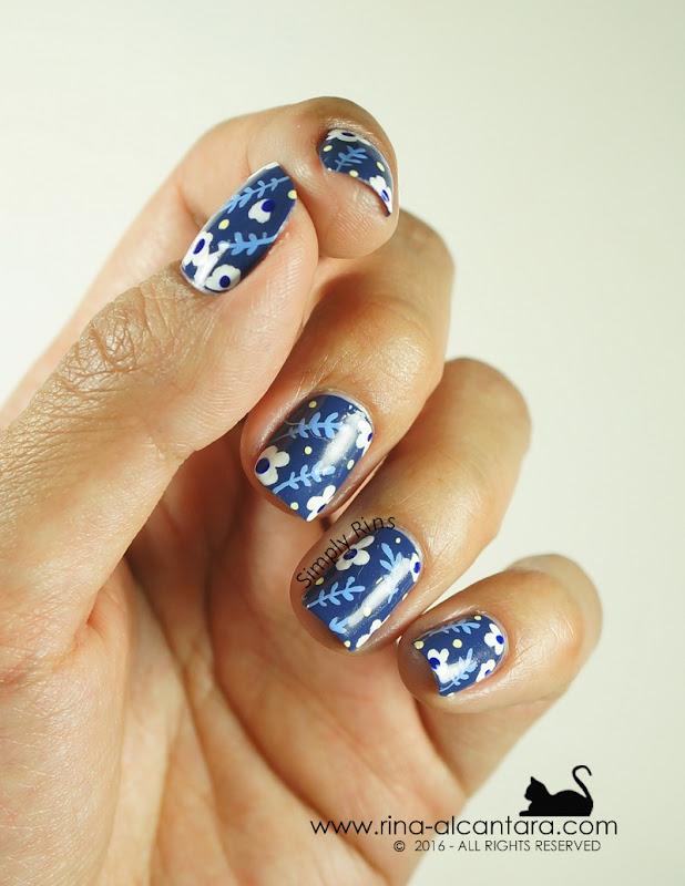 Nail Art: Don't Be Blue