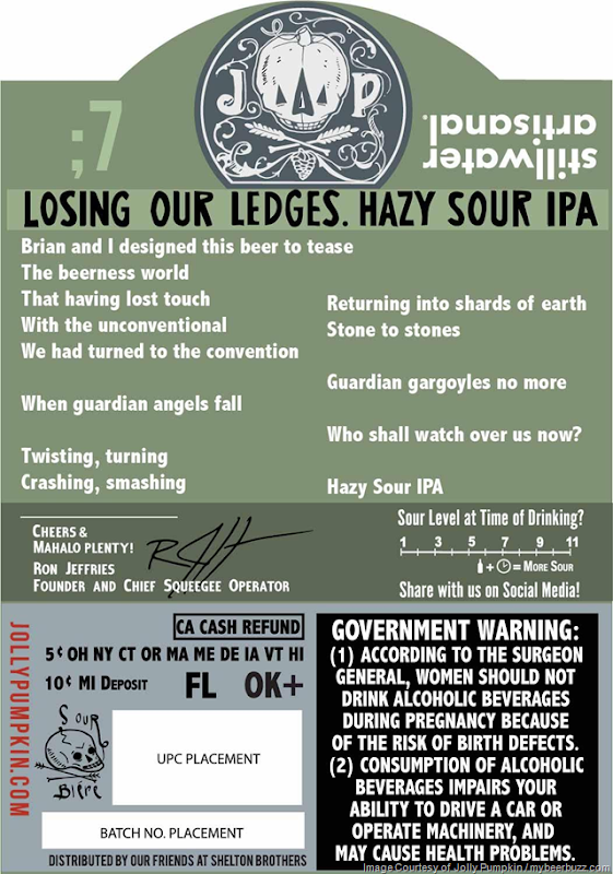 Jolly Pumpkin & Stillwater Collaborate On Losing Our Ledges Hazy Sour IPA