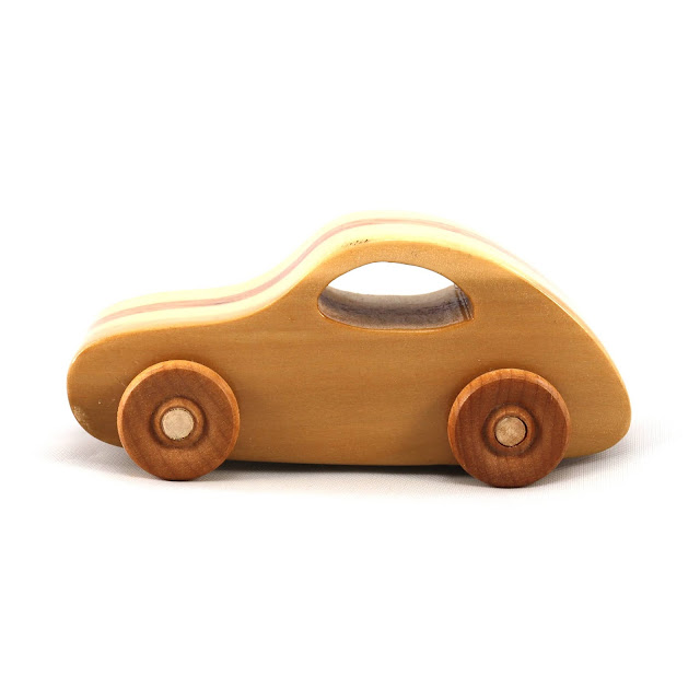 Handmade Wood Toy Car 1957 VW Bug From the Play Pal Series