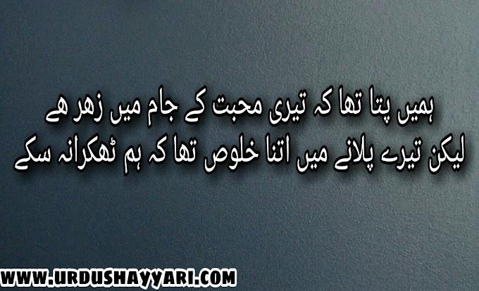 Urdu sad poetry 2 line