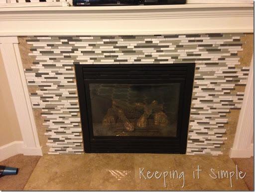 fireplace remodel with mosaic tiles u2022 keeping it simple rh keepingitsimplecrafts com mosaic tile fireplace hearth mosaic tile fireplace diy