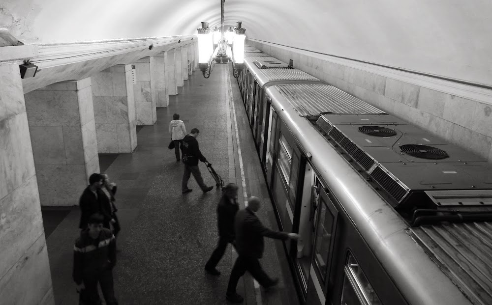 scenes from the Moscow Metro