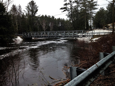 McCutcheon Bridge Black River. Facing South. April 19th 2019. Vankoughnet, ON   photo by Chris Varga