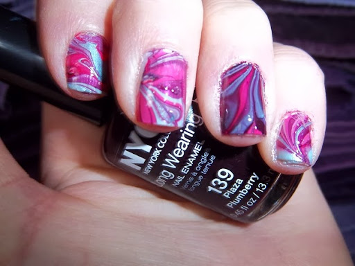 pinkblue water marble