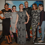 WWW.ENTSIMAGES.COM -     Kinga Kurek, Rose Merry Lloyd, Olivia Howell, Lewis_Duncan Weedon, Eve - Yasmine and Fossy Meade      post cat walk at        Stella McCartney Foundation Event at Louise Blouin Building 3 Olaf Street London September 24th 2013                                             Photo Mobis Photos/OIC 0203 174 1069