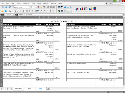 ExcellBook: Mask Facebook As Excel Sheet To Use Facebook Secretly