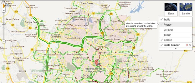 Google Maps now with Traffic & Transit in Malaysia