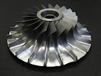 Solid titanium impeller for the aviation industry