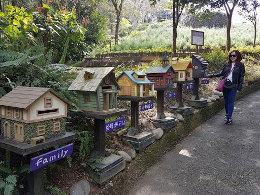 Bird houses at Lavender Village Taichung Taiwan