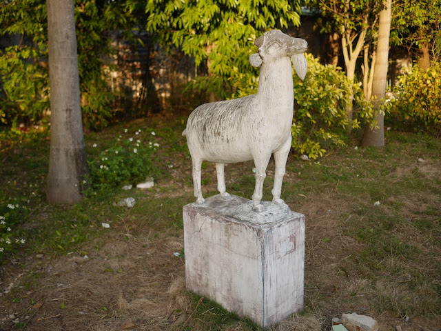 goat statue at Fenghuangzhou Park in Chaozhou