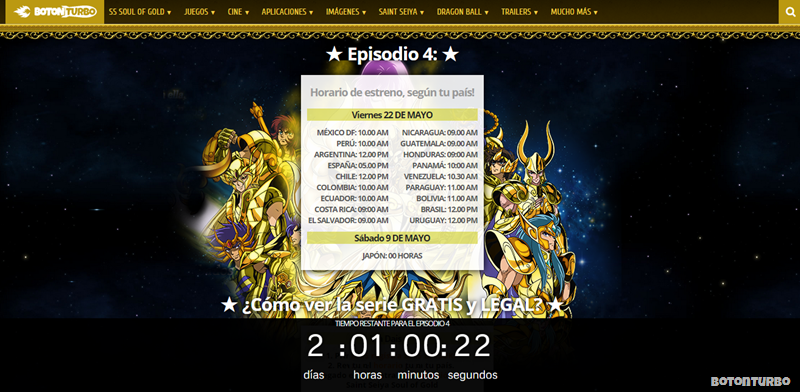 Saint Seiya Soul of Gold Episodio 4