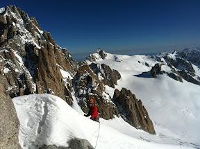 Au fond le Grand Capucin et l'Aiguille du Midi