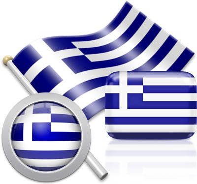 Greek flag icons pictures collection