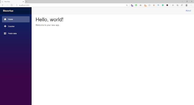 blazor in browser