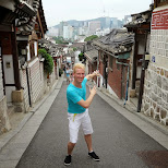 steep streets in bukchon hanok village in Seoul, Seoul Special City, South Korea