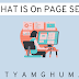 On page Optimization SEO Website Technique in Simple Words