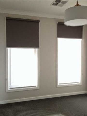 taupe roller blinds