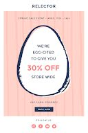 We're Egg-Cited Sale - Easter item