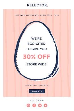 We're Egg-Cited Sale - Easter item