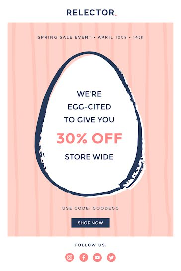 We're Egg-Cited Sale - Easter template