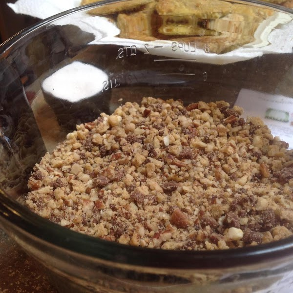 Add crumbs to bowl then pour in sugar and melted butter, & stir until...