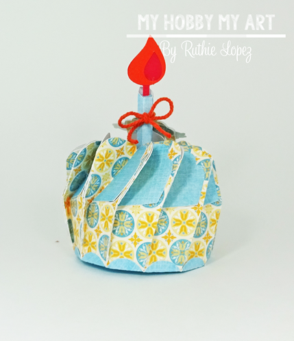Cupcake 3d Biscuit Box, SnapDragon Snippets, Ruthie Lopez, Blog Hop, Hilda's Birthday, cupcake, 3