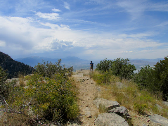 End of the trail at the summit of Squaw Peak