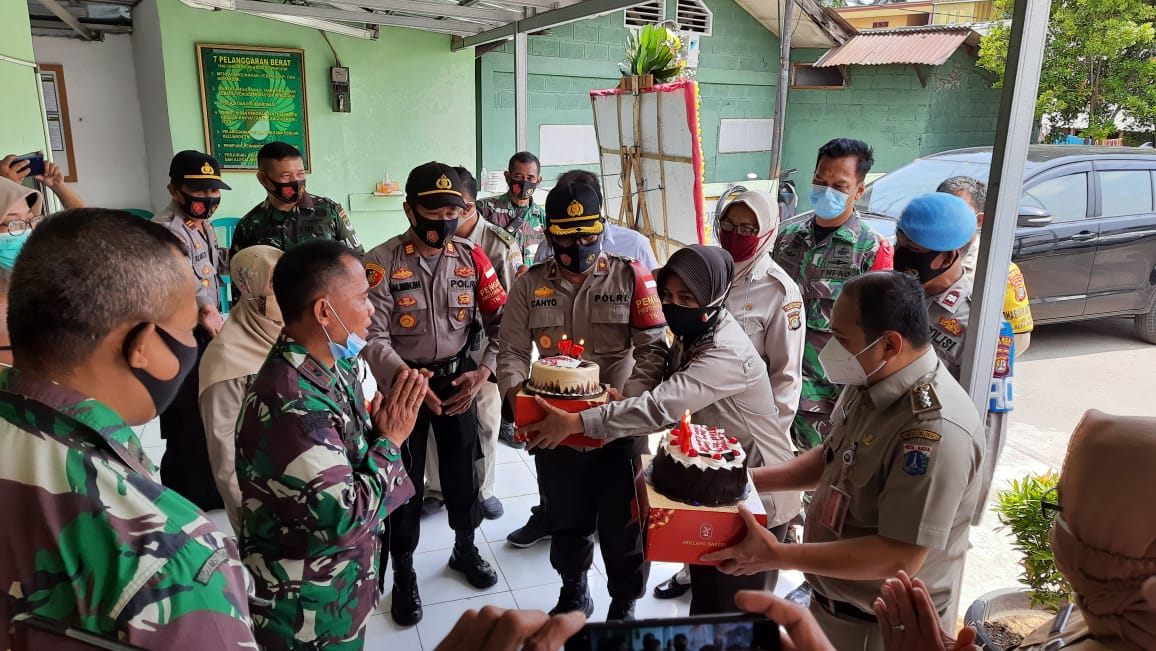 Wujud Sinergitas, Perayaan HUT TNI Ke 75 Tripilar Koja Mendatangi Makoramil-01/Koja