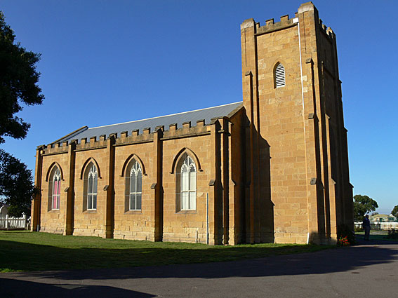 St Matthew's Anglican Church, Rokeby : exterior [photograph by John Maidment (27 April 2011)