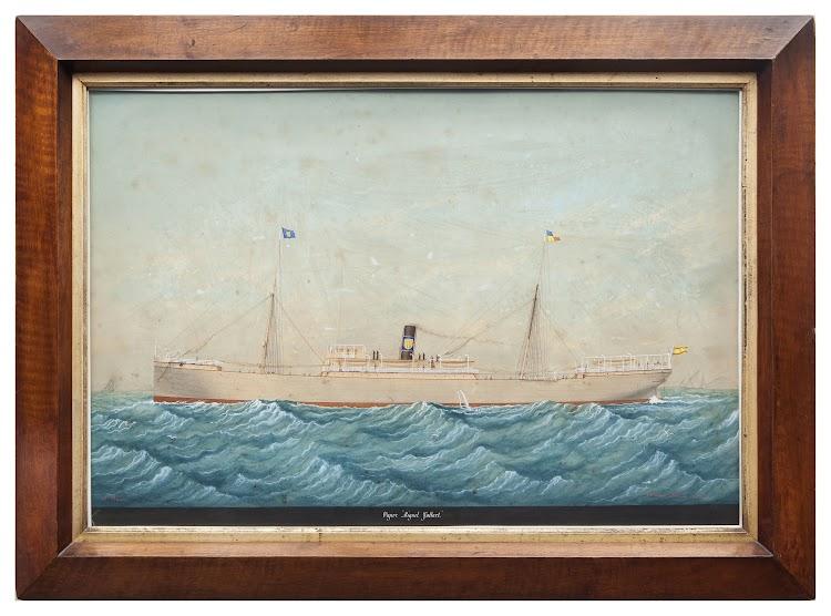 Acuarela de Pineda del MIGUEL GALLART. Silvia Dahl. Arxiu Fotogràfic. Museu Marítim de Barcelona.jpg