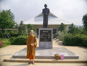 Photo: Statue of Luang Pu Dune at Suan Santidhamm where Ajahn Pramote is teaching