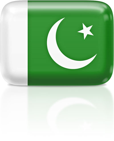 Pakistani flag clipart rectangular