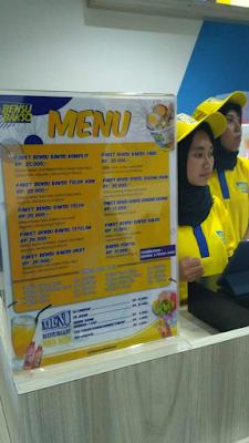 Daftar menu dan harga Bakso Bensu