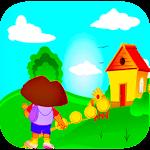 Fun Girl Dora Run Adventure Game Icon