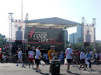 The stage in the post race Expo area.