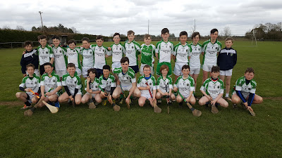 The U14 squad photo for 2016 Toddy Byrne Cup at Galway Feile