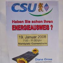CSU-Infostand zum Thema _Energiepass_ photos