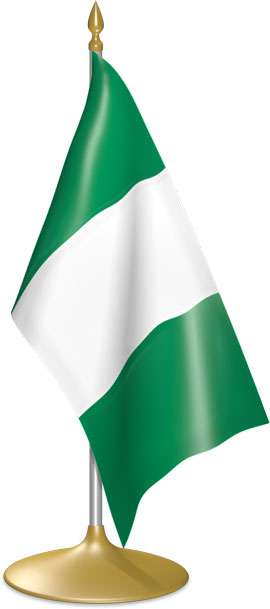 Nigerian table flags - desk flags
