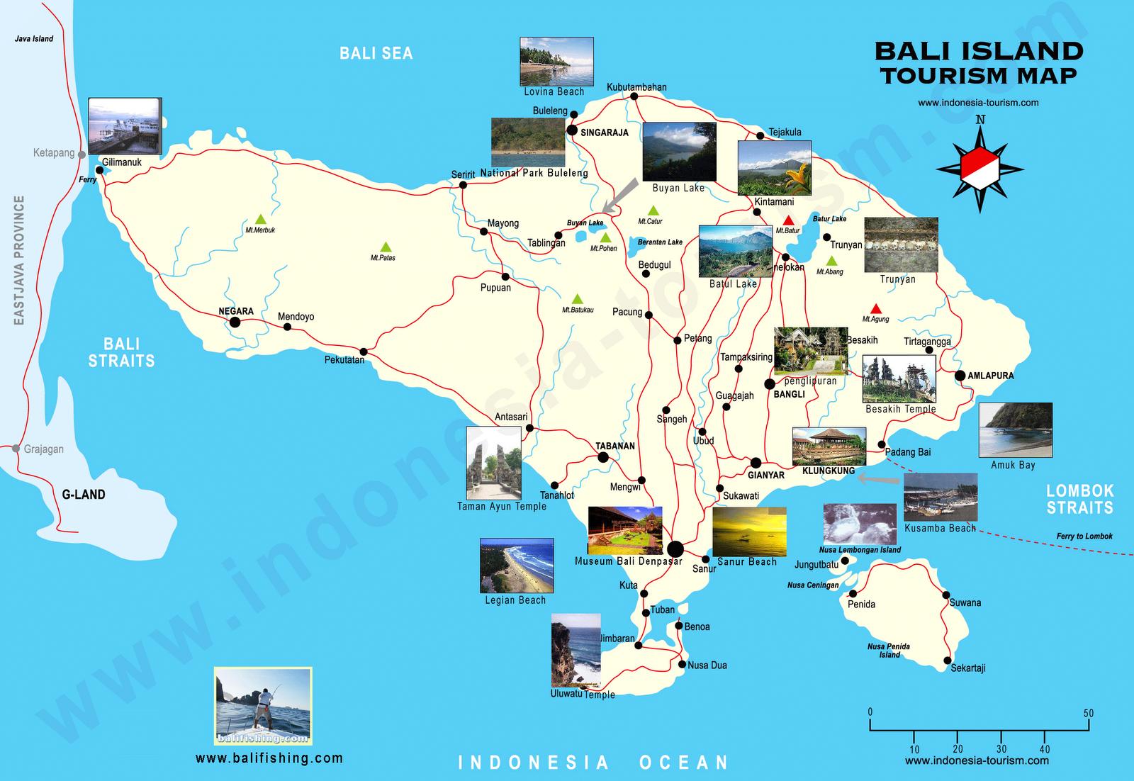 Pulau Bali Map Maps Tourism in Bali