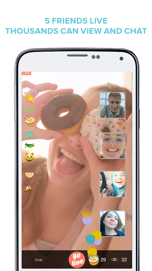 LiveRing - Group video chat- screenshot
