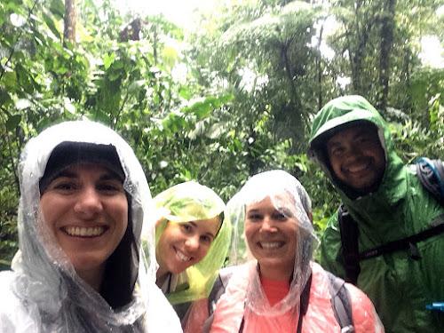 Us in rain ponchos