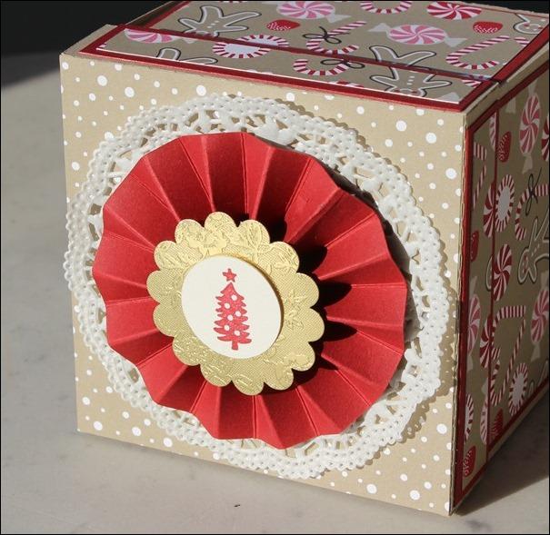 Explosion Box Weihnachten Christmas Candy Cane Lebkuchenhaus Gingerbread House LED 02