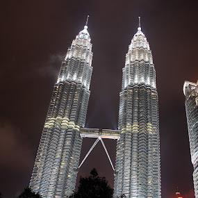 Lovely Malaysia by Beng Lim - Travel Locations Landmarks ( klcc, tower, lumpur, asia, scene, night, malaysia, kuala, twins )
