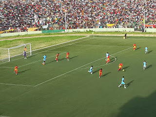 Le match entre Sanga Balende et Recreativo d'Angola dimanche 1er mars au stade Tata Raphaël. Radio Okapi/Ph. Caniche Mukongo