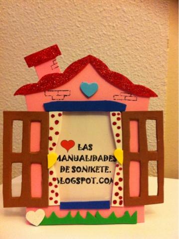 Las manualidades de sonikete espa a marco casa rosa - La casa de las manualidades ...
