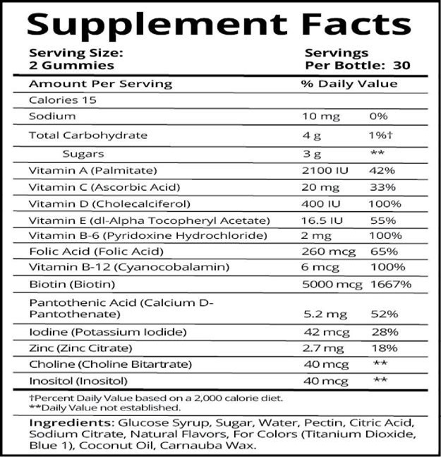 nutrition-label-kylie-jenner-hair-vitamins
